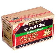 Bigelow Spiced Chai DECAF  Tea Bags