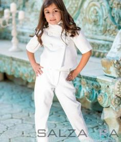 "#girl #fashion #salzarra #jacket #pants Set – ""WHITE TENDERNESS FOR BIANKA"""