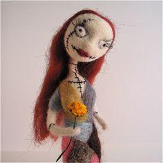 *NEEDLE FELT ART ~ Sally, The Nightmare before Christmas