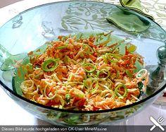 Apfel - Karotten - Lauch - Salat