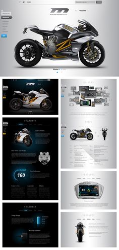 MIssion-motorcycles.com screenshots for the fastest production electric motorcycle - the Mission RS.