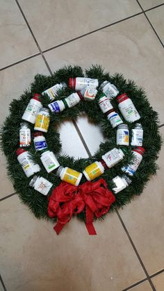 Pill Bottle Wreath I Would Have To Quot Tweek Quot This A