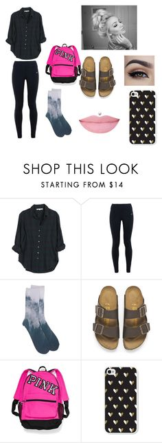 """""""Monday Morning Necessities"""" by alicia-goodin on Polyvore featuring Xirena, NIKE, Birkenstock, Victoria's Secret, women's clothing, women, female, woman, misses and juniors"""
