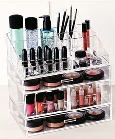 Acrylic Makeup jewelry cosmetic organizer - Set of 4 Multi Size Extra Deep Drawers That Maneuver Smoothly Great For Storing All Your Makeup Esstianls Made With the Highest quality Strong Thick Acrylic - Cute Makeup Guide Make Up Organizer, Make Up Storage, Storage Organizers, Personal Organizer, Cute Makeup, Beauty Makeup, Hair Beauty, Makeup Geek, Makeup Kit