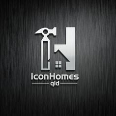 Logo design for Icon Homes qld #logo #design #designer #vector #graphic #graphicdesign #art #metal #icon #home #house #realestate #realtor #build #construction #repair #hammer #renovation #interior #lettering #initial #window