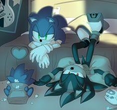 """((Open rp be Shadow)) sonic and shadow watched the movie tired they had been up since 5 in the morning watching tv and and eating food """"what do you want to do next?"""" Sonic asked yawning as the movie finished Shadow The Hedgehog, Sonic The Hedgehog, Hedgehog Art, Silver The Hedgehog, Ocelot, Ghibli, Sonamy Comic, Sonic Funny, Sonic Franchise"""
