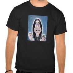 Ozzy Osbourne Black Sabbath Caricature Drawing T-Shirt on Zazzle #ozzy #ozzyosbourne #metal #caricature #rocker #bat #osbourne #funny #crazy #rock #dark