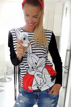 Tričko z Disney kolekcie so zajačikom.92% viskóza, 8% elastán