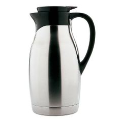 Copco 2 Quart Thermal Capacity Brushed Stainless Steel Carafe by Copco. $25.24. Made of vacuumed, double wall stainless. Keep drinks hot for up to 8 hours. Soft grip on handle for easy handling. 2-Quart brushed stainless steel carafe. Hand washing recommended. Copco carafes are styled to make a statement in the board room or the living room. Practical features that make serving a pleasure!  This 2 Quart brushed stainless steel carafe is vacuumed, double wall, so t...