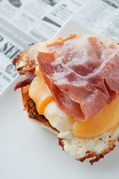 Bacon & Poached Egg on Toasted Bun
