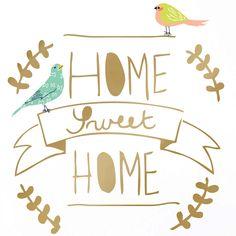 Sticker doré Home sweet home : Mimi'lou - Stickers texte / lettres - Berceau Magique