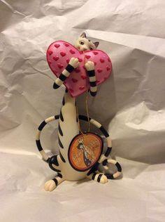 Toni Goffe Cool Cats A7951 Border Fine Arts Big Hearted Enesco Collectible Pet   eBay