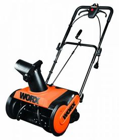 The WORX 18 inch snow thrower will help you get through winter with ease. Powered by a high performance 13 amp electric mower capable of slicing a path 18 inches wide by 9 inches deep and throwing snow up to 30 feet Electric Snow Shovel, Electric Snow Blower, Electric Mower, Snow Removal Equipment, Electric Pencil Sharpener, Shoveling Snow, Riding Lawn Mowers, Snow Plow, Lawn Care