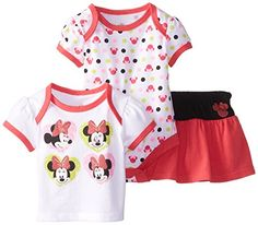 Disney Baby Baby-Girls Newborn Minnie Mouse 3 Piece Set
