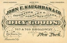 John E. Kaughran, Dry Goods, New York   by Alan Mays