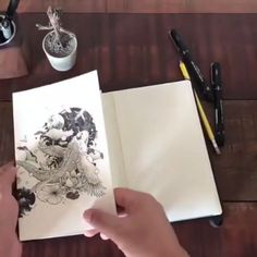 Tagged with art, awesome; Shared by This artist's sketchbook Pencil Art Drawings, Art Sketches, Amazing Drawings, Amazing Art, Inspiration Artistique, Arte Sketchbook, Sketchbook Inspiration, Pen Art, Art Tutorials