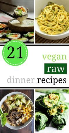 These super satisfying and filling Raw Vegan Recipes are perfect for an easy dinner, if you want to eat healthy and quick. You can't go wrong with these tasty, plant-based meals even if you are a beginner raw foodie. | The Green Loot #raw #vegan