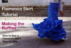 How to Sew a Flamenco Skirt – Making the Ruffles | Flamenco Dressmaking