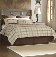 Signature Design by Ashley Juararo Transitional Queen Panel Headboard at Wayside Furniture
