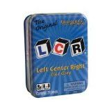 LCR® Left Center RightTM Dice Game - Blue Tin  List Price: $11.99 Discount: $5.11 Sale Price: $6.88
