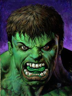 hulk cover recreation fabry Comic Art