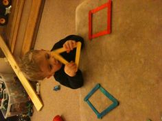 Learning Shapes Activity - Build Shapes With Velcro Craft Sticks