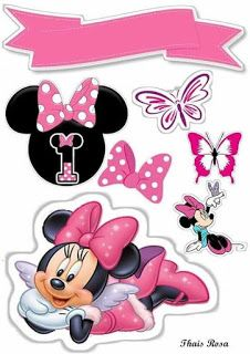 Minnie Mouse Cupcake Toppers, Minnie Mouse Birthday Decorations, Minnie Cake, Minnie Mouse Theme, Mickey Mouse Birthday, Mickey Mouse E Amigos, Mickey Y Minnie, Mickey Mouse And Friends, Scrapbook Da Disney