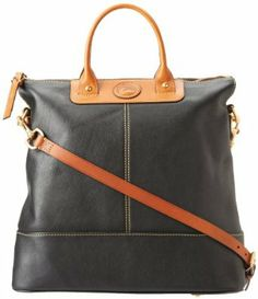 Dooney & Bourke Calf2 Convertible Shopper, Black