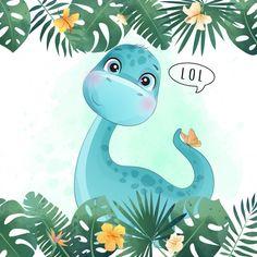 Giraffe Illustration, Butterfly Illustration, Watercolor Illustration, Lama Animal, Watercolor Lion, Bird Poster, Dinosaur Nursery, Baby Dinosaurs, Cute Dinosaur