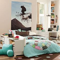 Shams with a solid quilt....dark brown?  I love the Peace Patchwork Quilt & Sham on pbteen.com