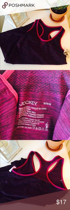 🌺NWT Pink Jockey Razor Back Tank!🌺 This is a super cute razor back made by Jockey! It is a pinkish/red color and size medium!                                                              Comes NEW WITH TAGS!🎉                             Retail price is $23.                                             Will except offers.                                               Any questions please ask before purchasing!🌴 Jockey Tops Tank Tops