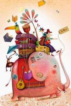 My absolute favorite is french illustrator Marie Desbons- her work is so elaborate and full of details and patterns , I just love it. Art And Illustration, Elephant Illustration, Illustrations Posters, Image Elephant, Elephant Art, Pink Elephant, Illustrator, Art Fantaisiste, Art Mignon