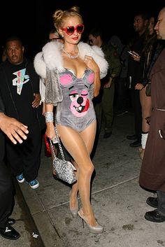 Paris Hilton Dressed As Miley Cyrus For Halloween