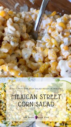 Mexican food recipes 255579347595369074 - Mexican street corn salad side dish Source by SaltySideDish Carne Asada, Side Dishes For Bbq, Side Dish Recipes, Side Dishes With Tacos, Pulled Pork Sides Dishes, Side Dishes For Brisket, Sides For A Cookout, Corn Side Dishes, Fajita Side Dishes