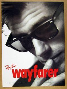 1993 Ray-Ban Wayfarer Sunglasses glasses man photo vintage print Ad