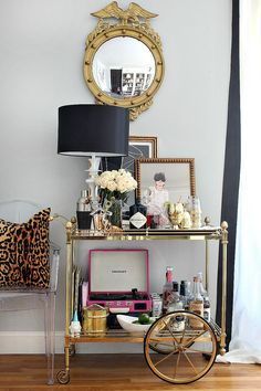 Bar Cart Tips & Styling with Mintwood Home