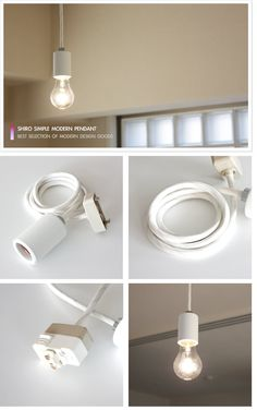 SHIRO シンプルペンダント | プラグセット | インテリア照明の通販 照明のライティングファクトリー