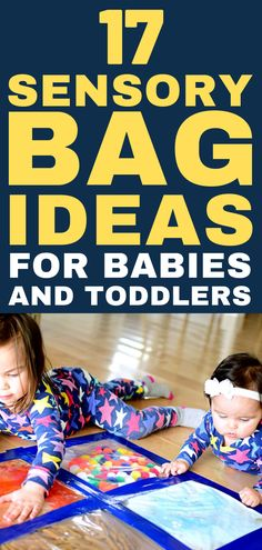 Entertain babies and toddlers with this indoor activity for sensory play. Sensory bags are a perfect way to introduce babies to sensory play activities. Baby Sensory Bags, Baby Sensory Play, Baby Play, Infant Sensory, Sensory Toys, Sensory Activities, Infant Activities, Childcare Activities, Motor Activities