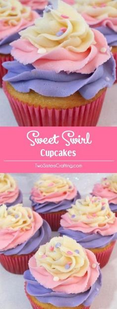 Oh my goodness, we just love the way these Sweet Swirl Cupcakes turned out. They are so yummy and so pretty. They would be a great Easter dessert, a fun Mother's Day Cupcake, or even a Doc McStuffin's Birthday Party Cupcake. Follow us for more fun Easter Food ideas. by caitlin