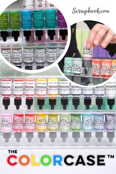 Store your Reinkers beautifully and neatly with the ColorCase! This clear, stackable bottle storage option is affordable and will make it so you never have to rummage through drawers and boxes and get inky fingers again! Glitter Glue, Polymer Clay Crafts, Craft Items, Fingers, Stamping, Drawers, Boxes, Space, Bottle