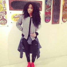the homegirl and current hair crush, Sza.