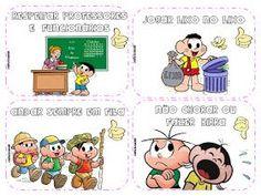 Dani Educar : Combinados coloridos Turma da Mônica