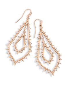 Alice Statement Earrings In Rose Gold - Kendra Scott Jewelry.