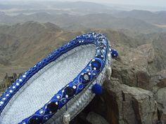 سلة من السعف المدهون باللون الفضي والمزين بالعقال الأزرق Traditional Baskets, Bracelets, Jewelry, Fashion, Moda, Jewlery, Traditional Hampers, Jewerly, Fashion Styles