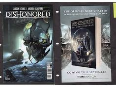 DISHONORED Comic Book #1 Cover C Wyrmwood Deceit Mitten Titan 2016
