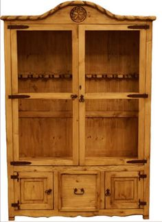 Custom Made Rustic Log Gun Cabinet Or A Armoire For