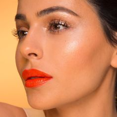 """8,324 Likes, 58 Comments - teni panosian (@tenipanosian) on Instagram: """"Orange lips and glossy lids tutorial comin atcha Friday morning at 9am PST! For now here's the…"""""""