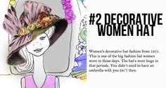 12. deco Those Days, Big Fashion, Hats For Women, Women Wear, Deco, Period, Decor, Deko, Decorating
