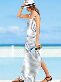 stripes, flats and hat - summer essentials