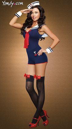Navy Sailor Romper Costume